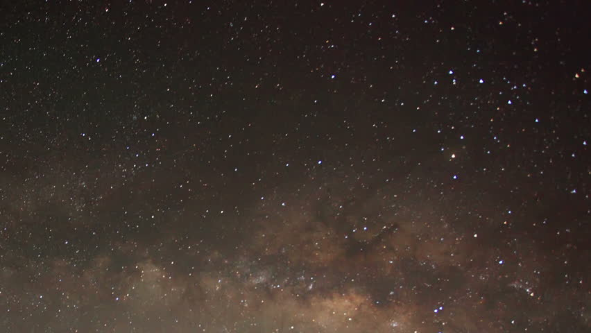 Time lapse of the night sky with clouds and stars passing by behind mountain Taboche, Cholatse, Machhermo village. Nepal, Full HD  #7313647
