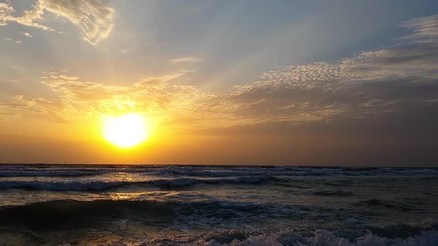 Sunrise on the beach | Shutterstock HD Video #7332553