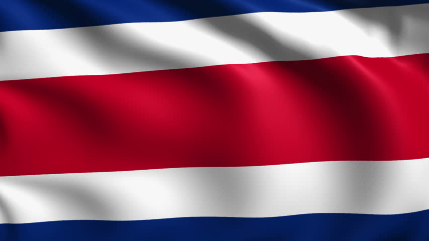 Flag of the Republic of Costa Rica with fabric structure; looping | Shutterstock HD Video #7346707