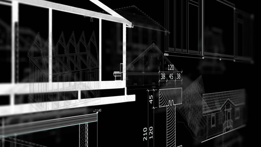 architecture background hd. abstract architecture models on black background hd stock video clip hd r