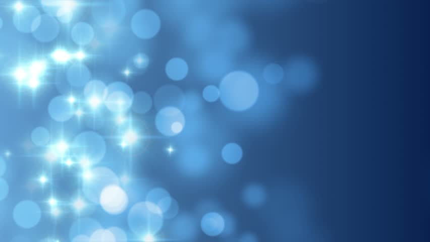 Abstract Motion Background In Blue Colors Shining Light Stars Particles Energy Waves