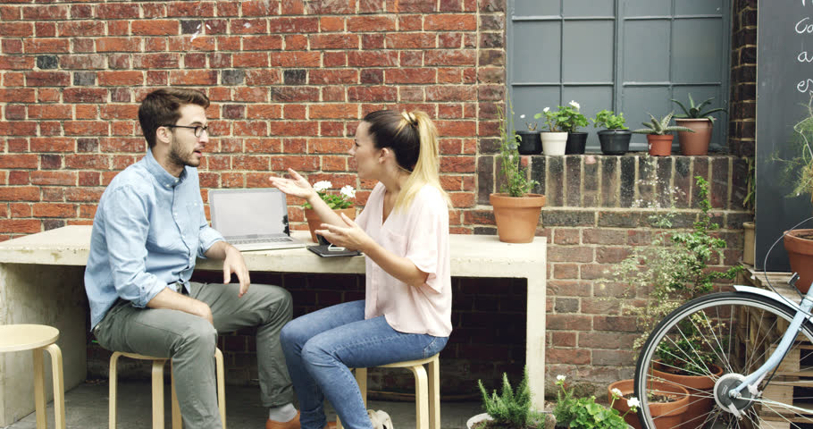 Couple having an argument fighting divorce   Shutterstock HD Video #7363639