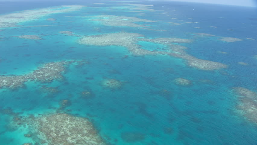 Aerial view of the Great Barrier Reef #7384396