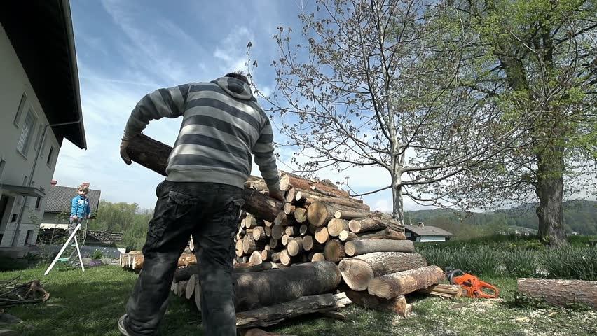 Walking Towards Pile of Log Stock Footage Video (100% Royalty-free) 7413727    Shutterstock