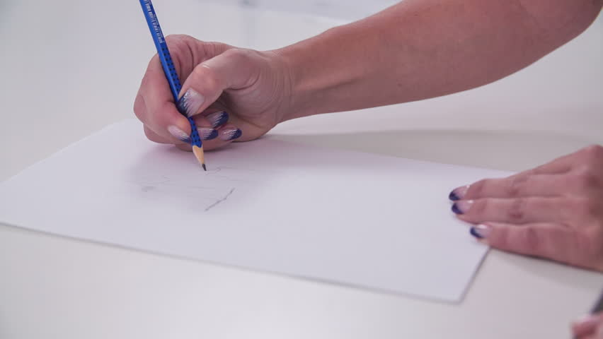 Painter Draws By Pencil And Drawings Become Reality Designer - Reality with pencil and paper