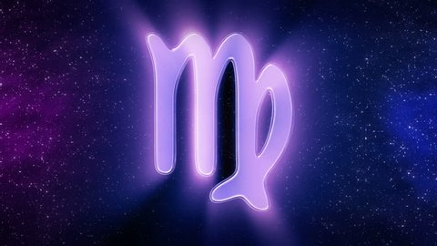 Virgo Sign Of The Zodiac Loop Able Background Animation