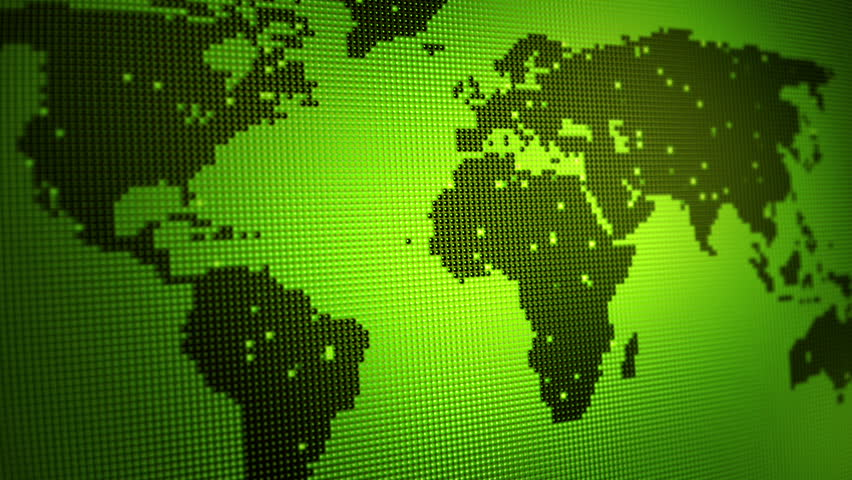 Loopable animated background of a map of the world made up of digital green world map with light points loop animation hd stock video clip sciox Image collections