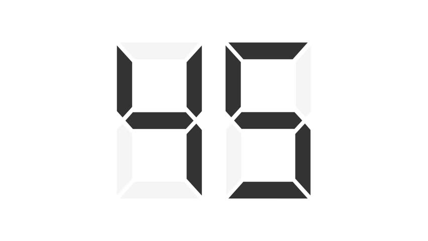 digital counter 0-99, each number in separate frames