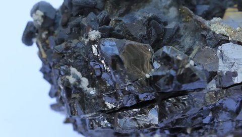 Galena and pyrite macro