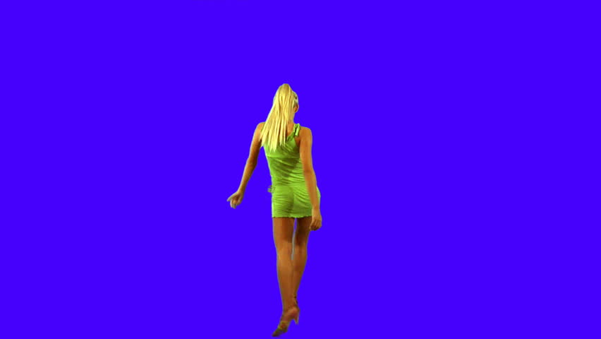 Blond girl dancing