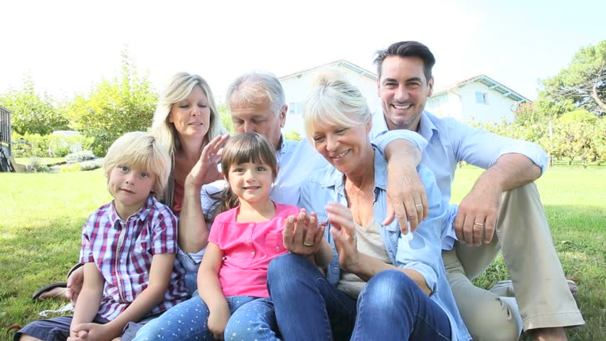 Portrait Of Happy Family At Stock Footage Video 100 Royalty Free