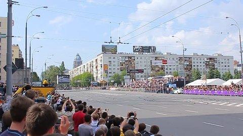 19.05.2012, Kiev, Ukraive, the F1 Red Bull show on the Lesi Ukrainky str. (F1 pilot:  Daniel Ricciardo)