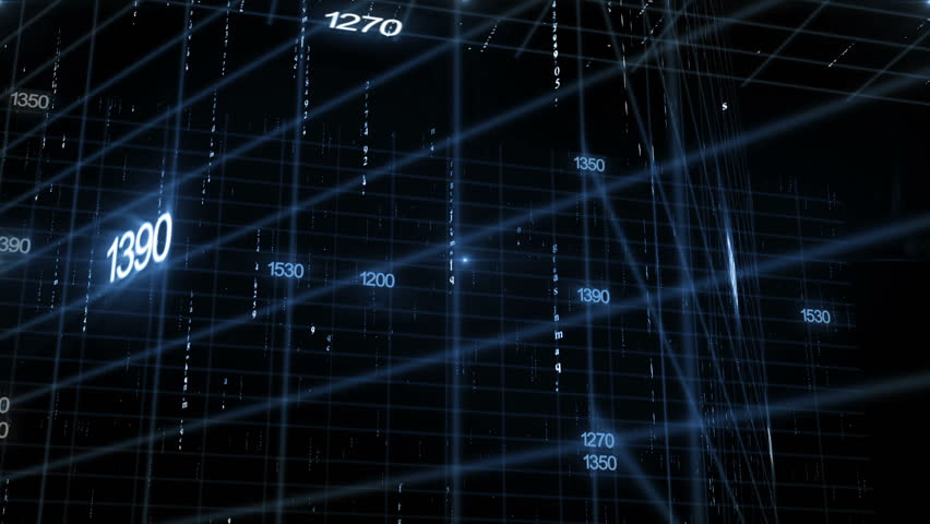 Line together with digital numbers (technology background) | Shutterstock HD Video #7636450