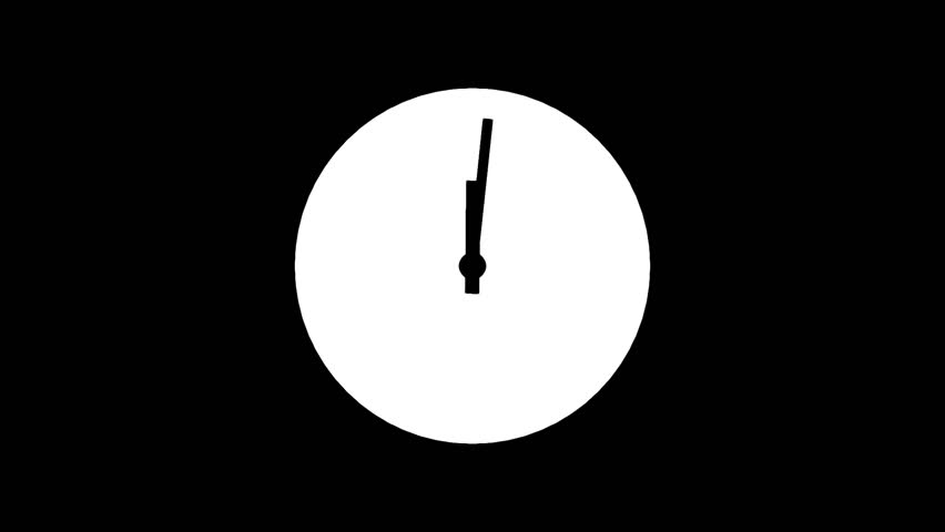 Motion background with spinning clock in 12 hour seamless loop . (Full HD, 1920x1080 24sec/30fps).   Shutterstock HD Video #7668757