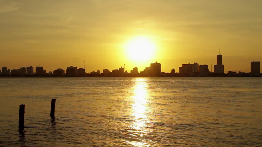 Aracaju, Brazil - View of the city, sunset, | Shutterstock HD Video #7674457