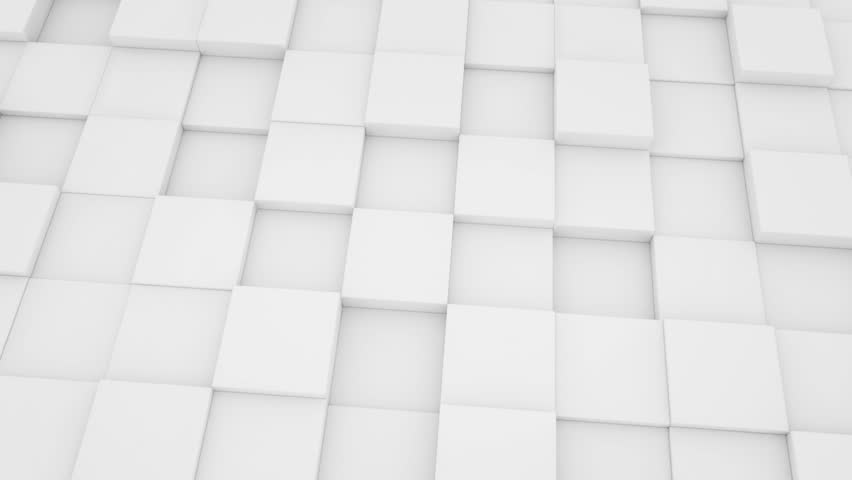 Objects 3d Render White Background Stock Footage Video