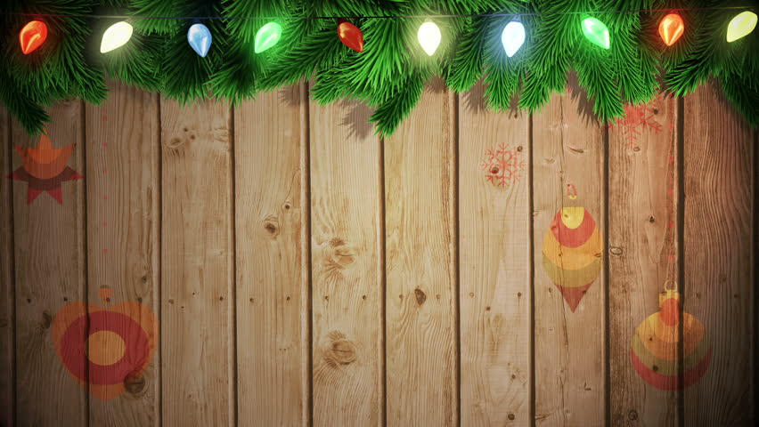 Christmas Wood Background.Digital Animation Of Santa Carrying Stock Footage Video 100 Royalty Free 7741477 Shutterstock