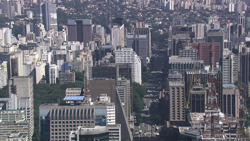 AERIAL- Avenida Paulista, Sao Paulo, Brazil | Shutterstock HD Video #7745797