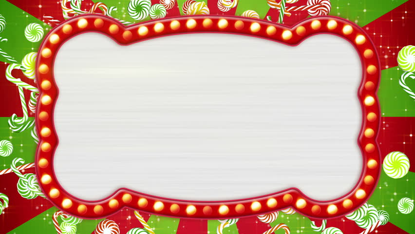 Christmas Candy Canes. Computer Generated Seamless Loop Abstract ...