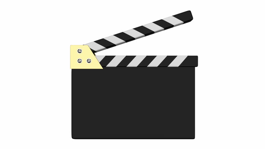 Animated cinema clapper with alpha mask
