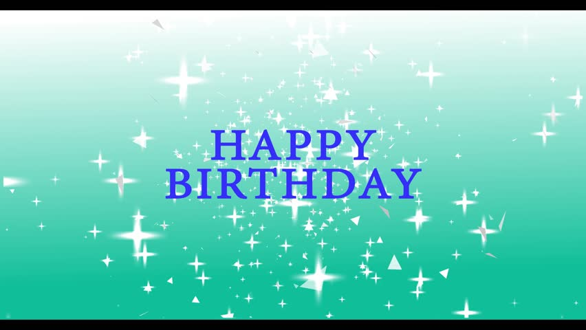 Stock video of happy birthday greeting video with all 7394443 4k0023happy birthday animation m4hsunfo