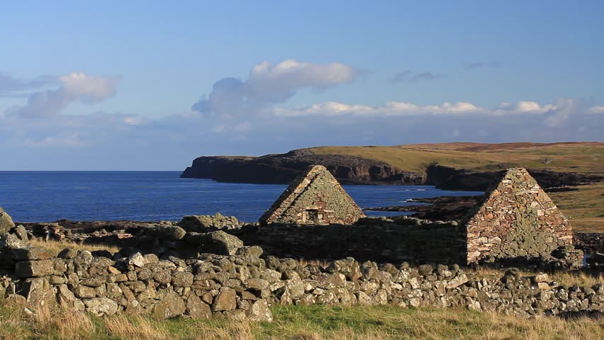 Abandoned croft at Shetland Islands, UK