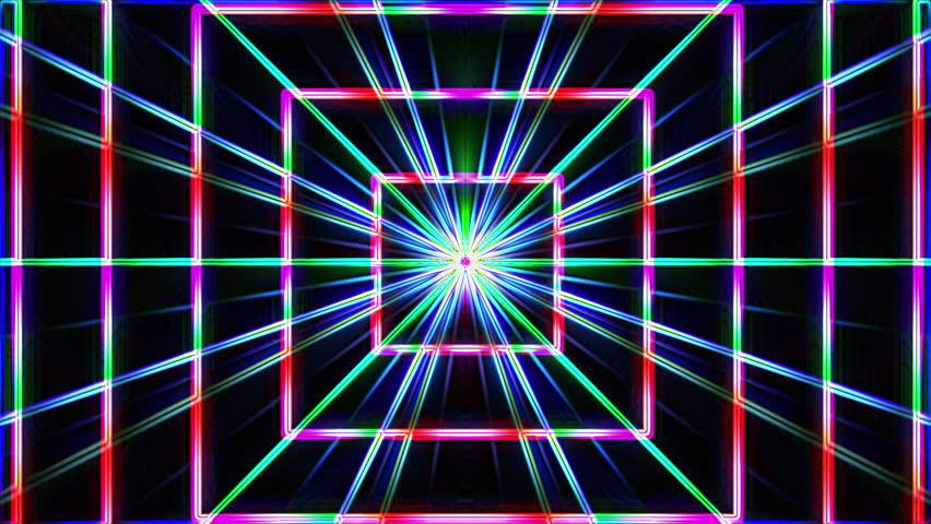 Neon Lights Squares Tunnel Star Stock Footage Video (100% Royalty-free)  7956607 | Shutterstock