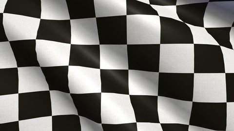 Realistic Ultra-HD checker flag waving in the wind. Seamless loop with highly detailed fabric texture. Loop ready in 4K resolution.