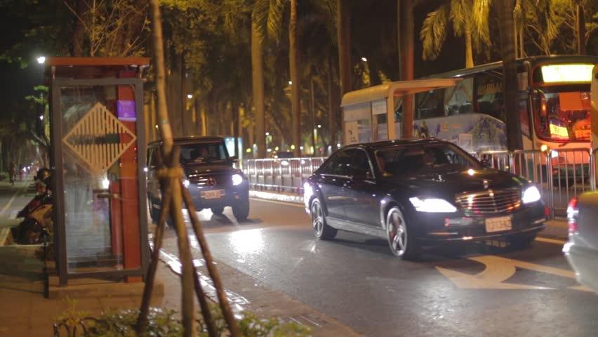 Taipei Taiwan Circa November 2014 Luxury Cars Driving On Renai