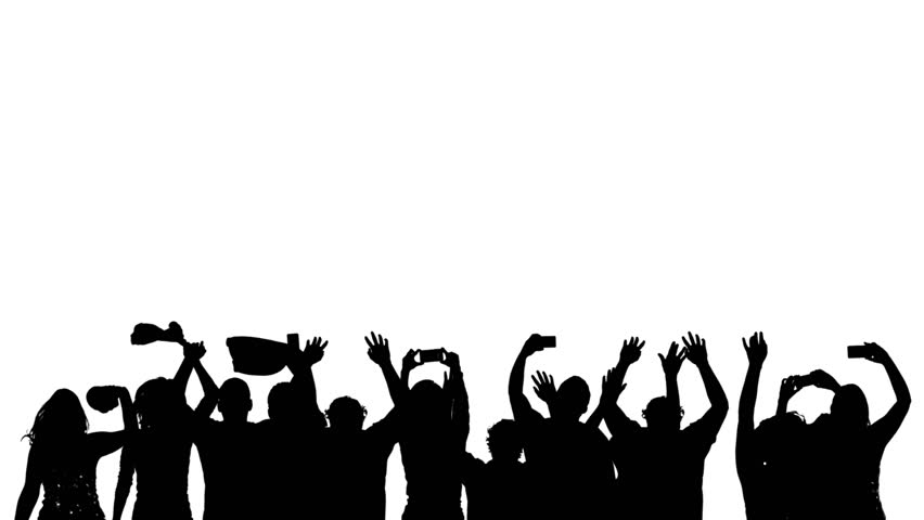 Crowd silhouette of people with phones  and electronic devices having fun at a club, concert or sports event | Shutterstock HD Video #7969987