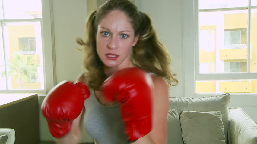 Young Woman Boxing Stock Footage Video 100 Royalty-Free -8855