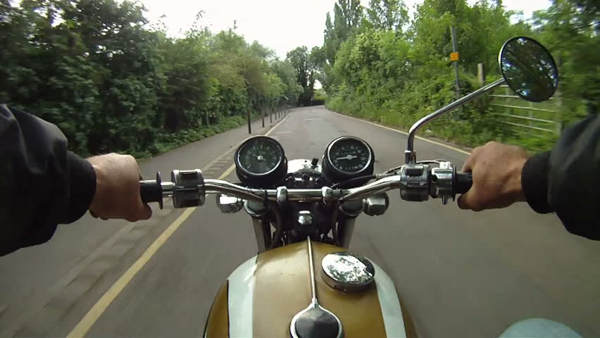 Motorbike journey along country road
