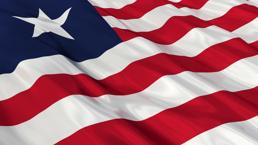 Flag of Liberia Waving in Stock Footage Video (100% Royalty-free) 8069587 |  Shutterstock