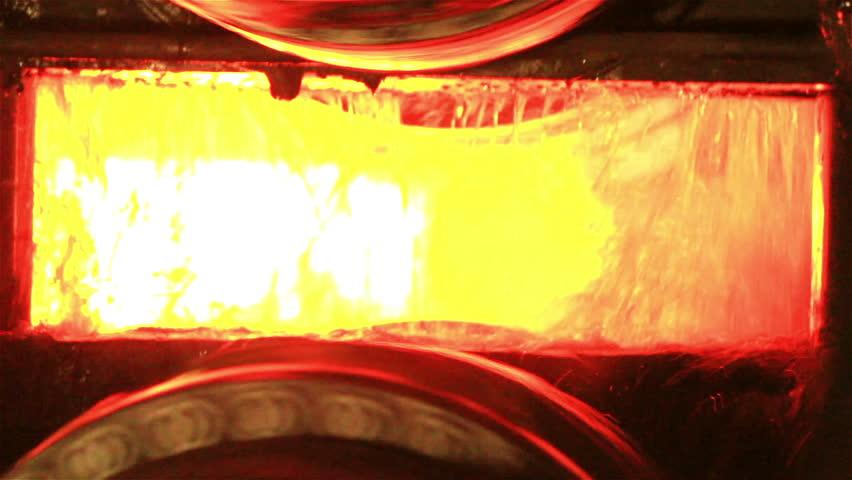 Industry steel, Hot slab are rolling in Mill. | Shutterstock HD Video #8071258