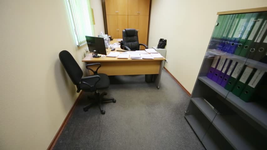 desk for small office. A Small Office With Spacious Work Desk And Soft Armchairs - HD Stock Video Clip For