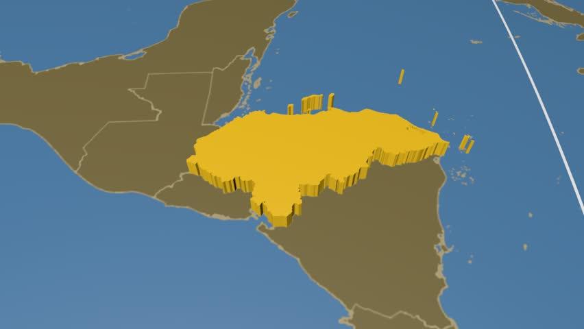 Honduras Map Stock Footage Video Shutterstock