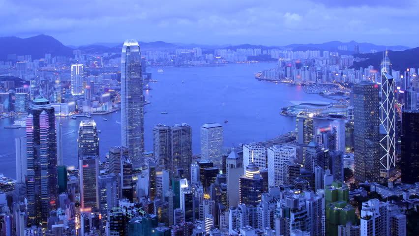 Hong Kong. Cityscape Sunset Time-lapse.  | Shutterstock HD Video #811588