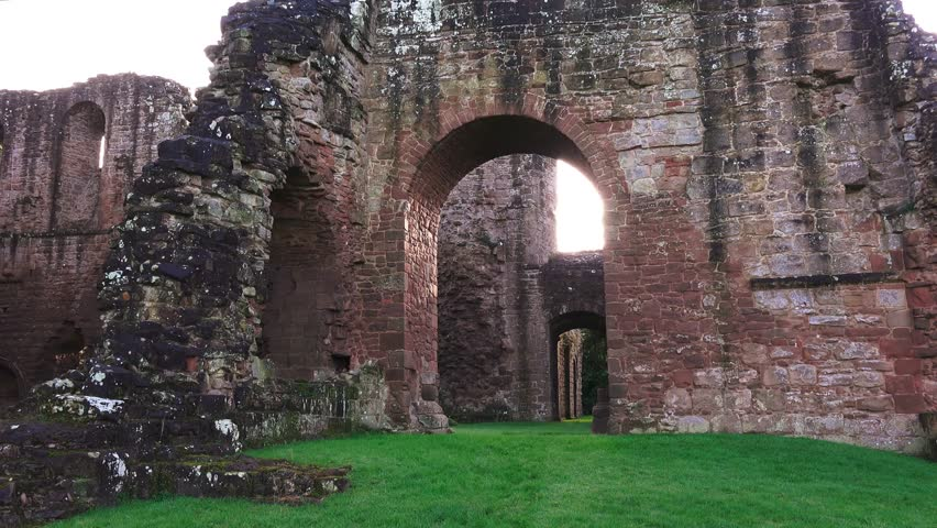 Stock Video Of Gothic Archway Entrance To Old Disused