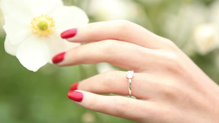Which Hand Wedding Ring Female.Female Hand And Wedding Ring Stock Footage Video 100 Royalty Free 8158087 Shutterstock
