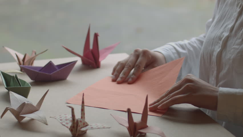 Origami making by my friend