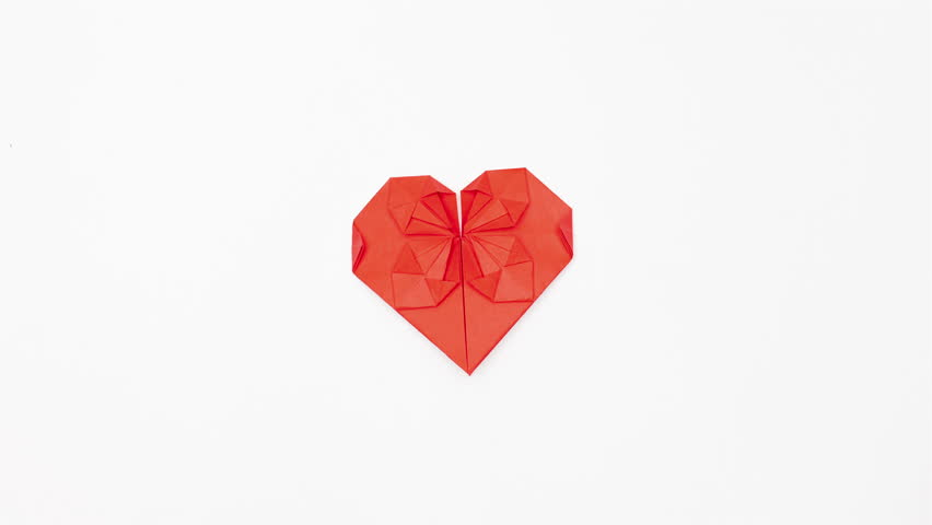 Making of origami heart stop motion