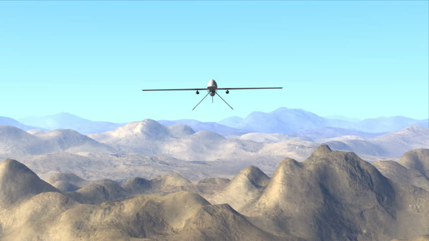 4k0007Predator Drone Firing Missile High Quality Detailed 3d Animation In Full 4K Resolution Ready For Your Film Or Documentary Projects