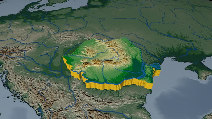 Portugal Extruded On The World Map Rivers And Lakes Shapes Added - Portugal elevation map
