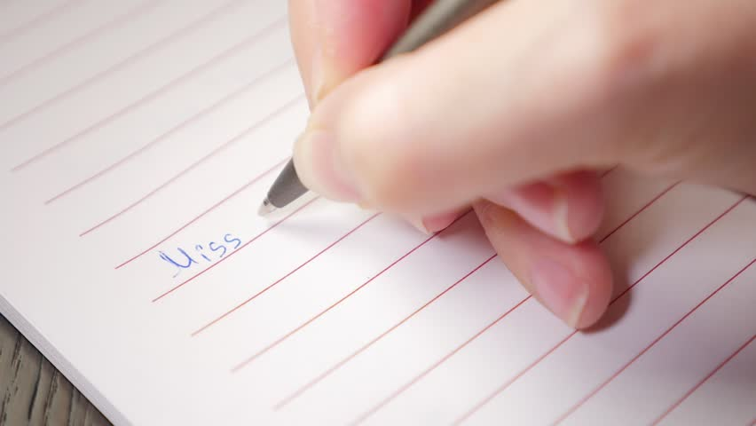 Stock video clip of miss you written with pen on paper shutterstock altavistaventures Images