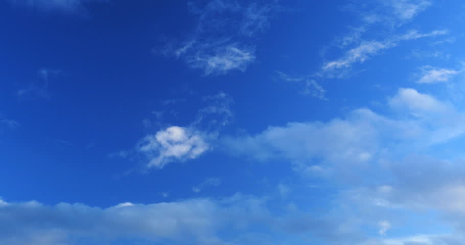 Video Stock A Tema 4k Blue Sky With Clouds 100 Royalty Free