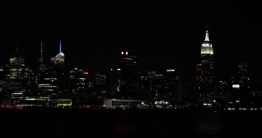 Light Turn Off Shut Down Earth Hour New York City Skyline Empire State Building Stop Illumination Partial Illuminated Area Ultra High Definition