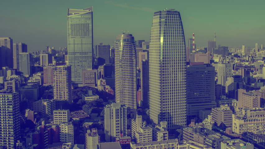 4k timelapse of the amazing tokyo skyline shot from a high observation point  | Shutterstock HD Video #8323840