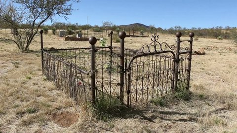 Gleeson Grave 1. Old grave in a cemetery located within Gleeson. A ghost town in Arizona near Tombstone.