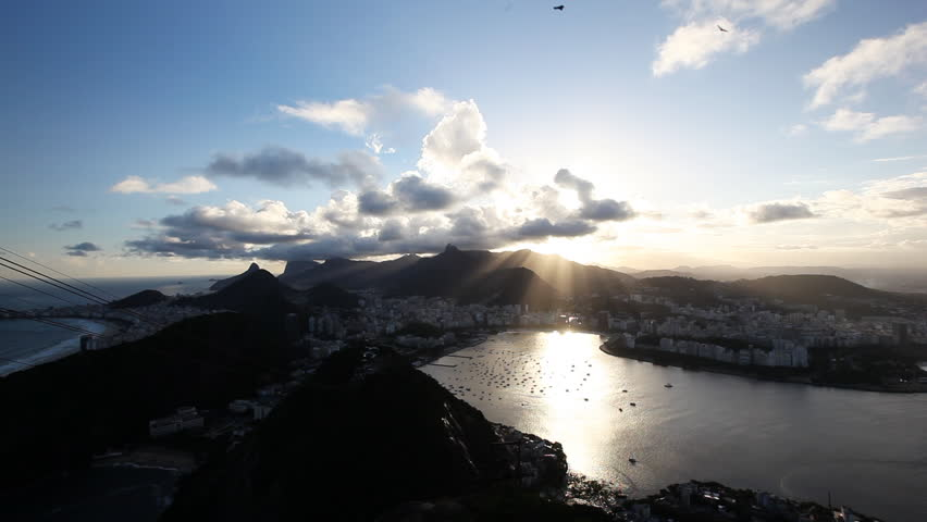 Time Lapse of Rio De Janeiro shot from the sugar loaf mountain with Copacabana during sunset  | Shutterstock HD Video #838813