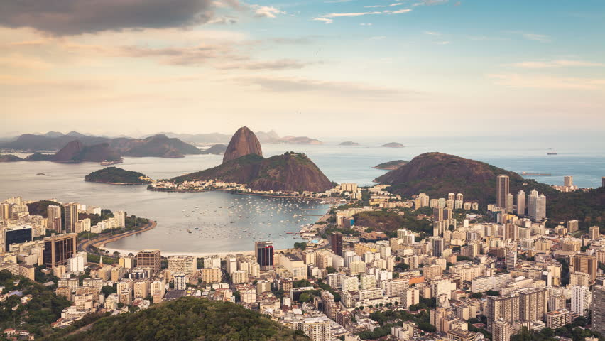 Beautiful Sunset over Rio de Janeiro Time Lapse, Brazil | Shutterstock HD Video #8402617